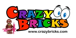 Image of STICKER!  Gman Edition, CrazyBricks LOGO Sticker!