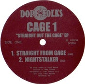 """Image of CAGE 1 """"STRAIGHT OUT THE CAGE"""" EP"""
