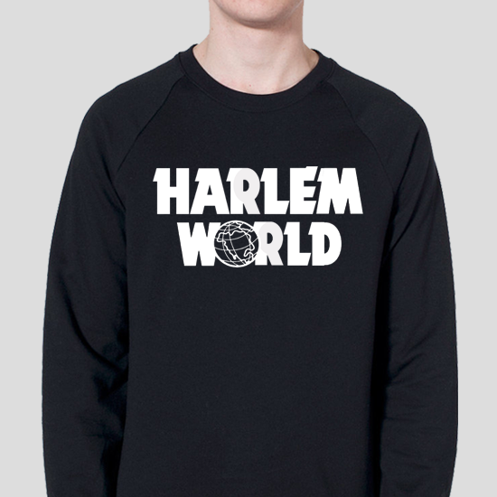 Image of Harlem World Black Crewneck Sweatshirt