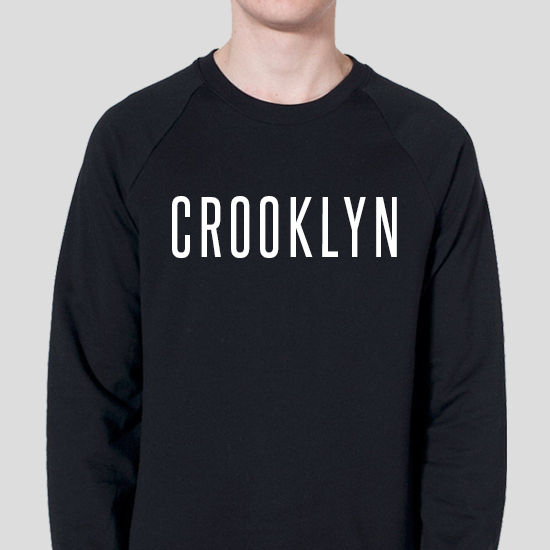 Image of Crooklyn Black & White Crewneck Sweatshirt