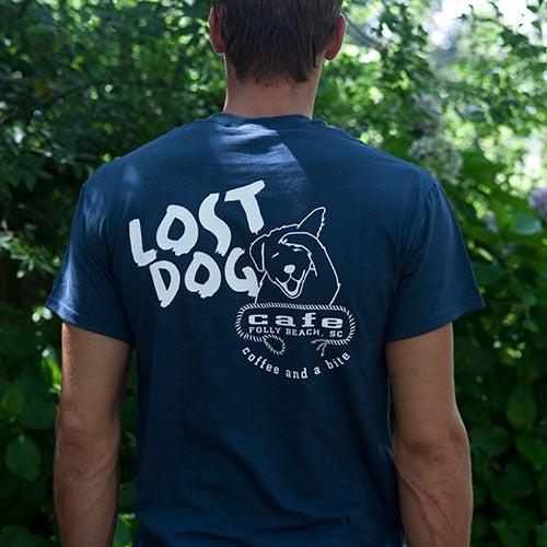 Image of Lost Dog Single Color Logo T