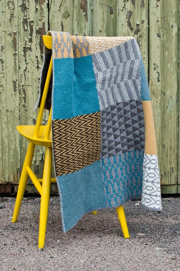 Image of Blanket 'Banjara' Turquoise/Yellow