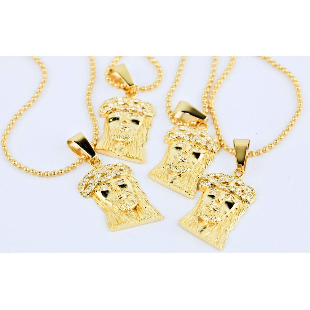 Image of Micro Jesus Piece - Gold