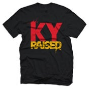 Image of KY Raised Tee in Black, Red & Yellow