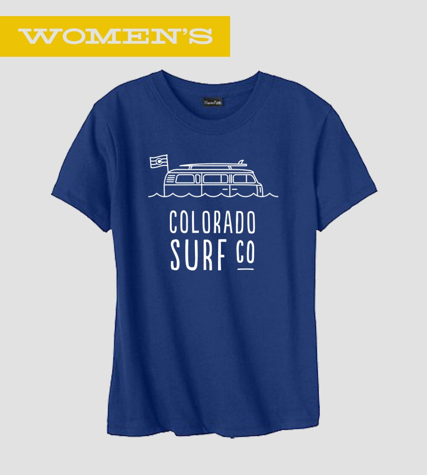 Image of Colorado Surf Co. - Women's Tee | Designed by Austin Buck