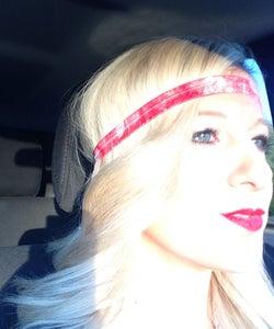 Image of Red Tie Dye Single Headband
