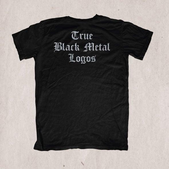 Image of True Black Metal Logos - SIlver Edition T-shirt