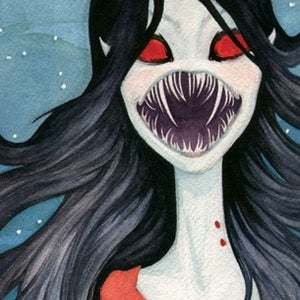 Image of Shades of Red - Marceline the Vampire Queen - Print