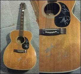 Image of All Time Low signed acoustic guitar