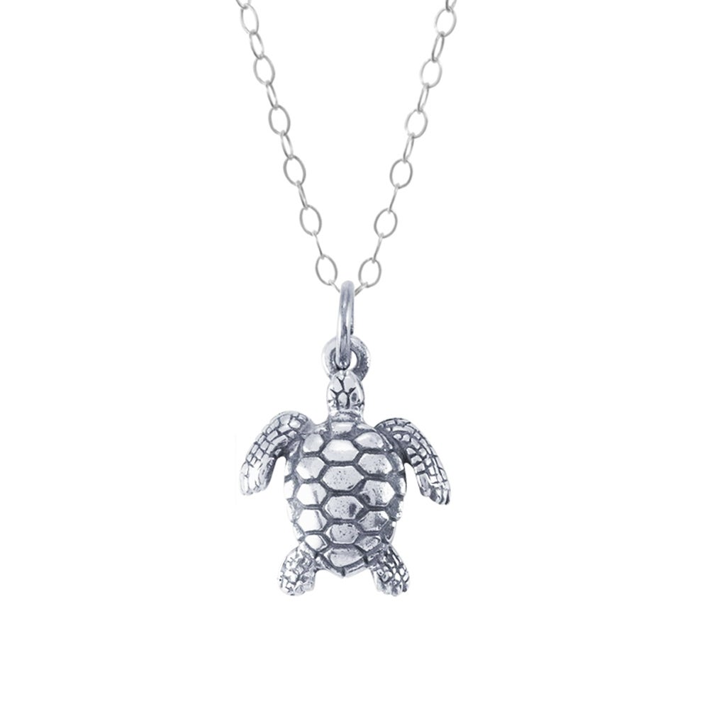 Image of Sea Turtle Necklace in Sterling Silver