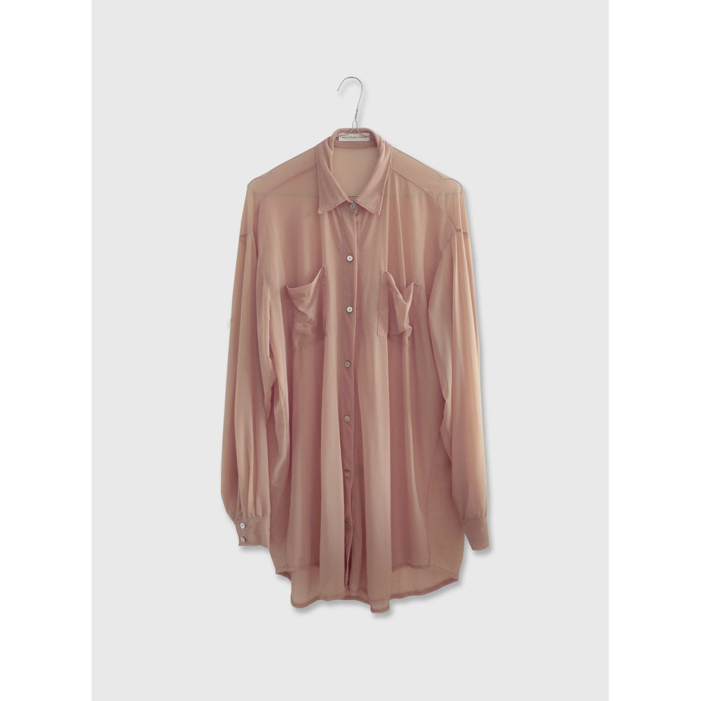 Image of Nude TULLE BLOUSE