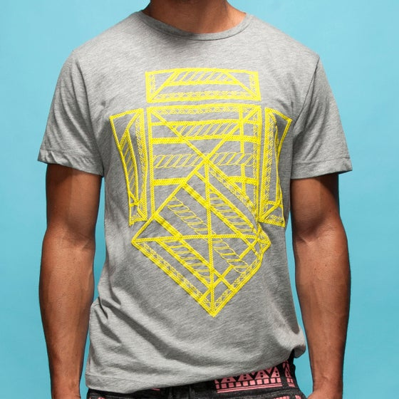 """Image of """"Five Year Voyage"""" Crew Neck T-shirt with Puff Print"""