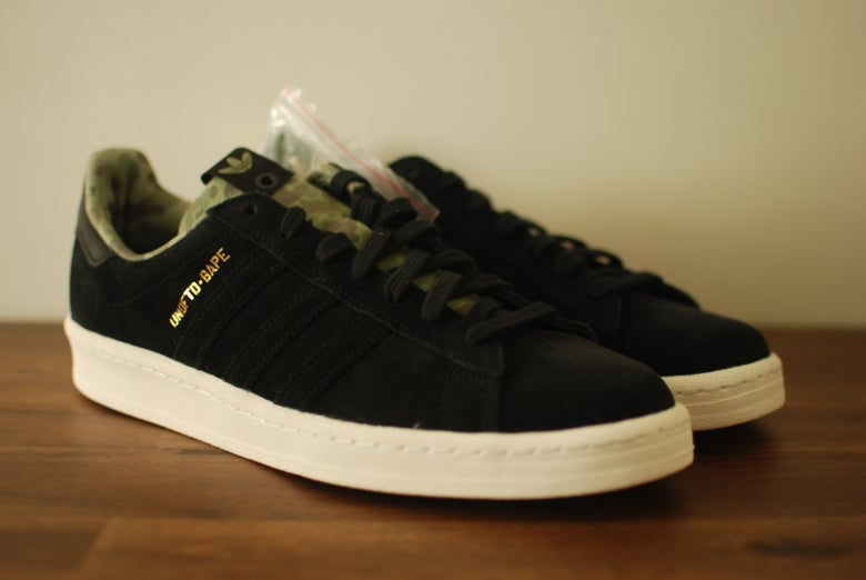 Image of Bape x Undefeated x Adidas Campus 80s Black