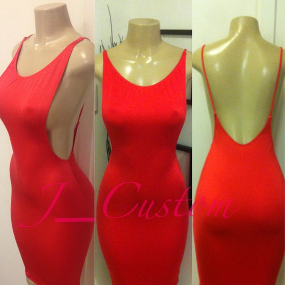 Image of Red Side Boob Dress