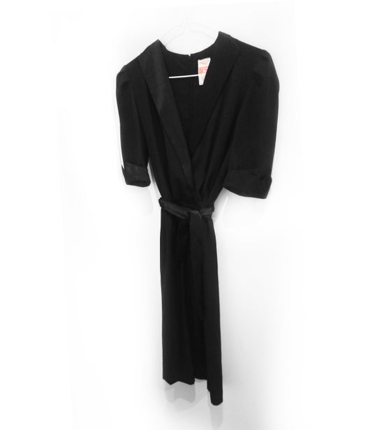 Image of 80's Vintage Classic deep V rope dress