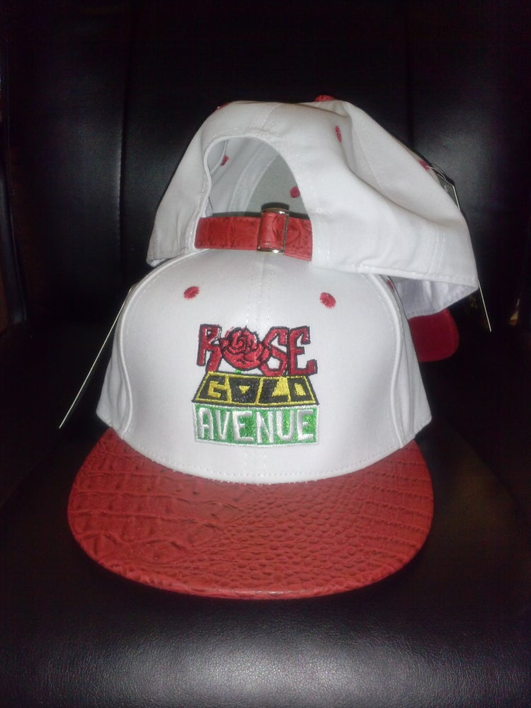 Image of Rose Gold Avenue Gator Red Polo Style Strapback