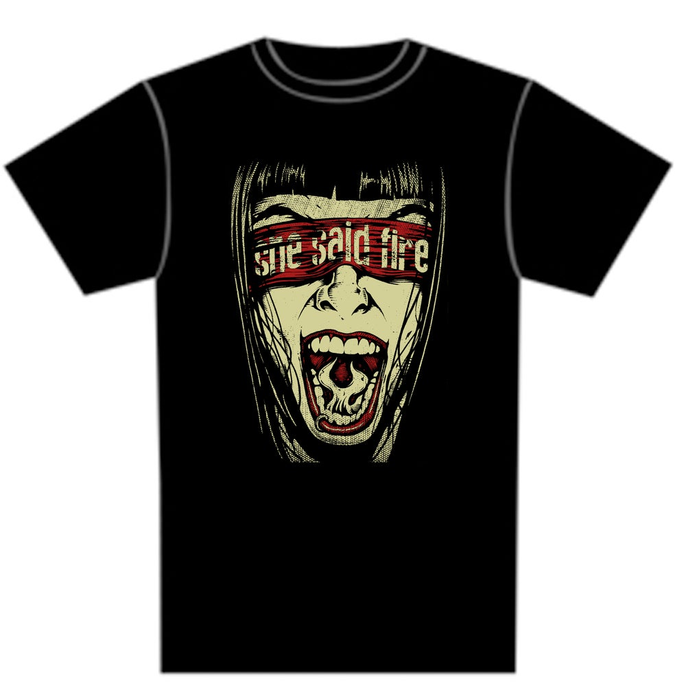"""Image of Black """"Face"""" Tee"""