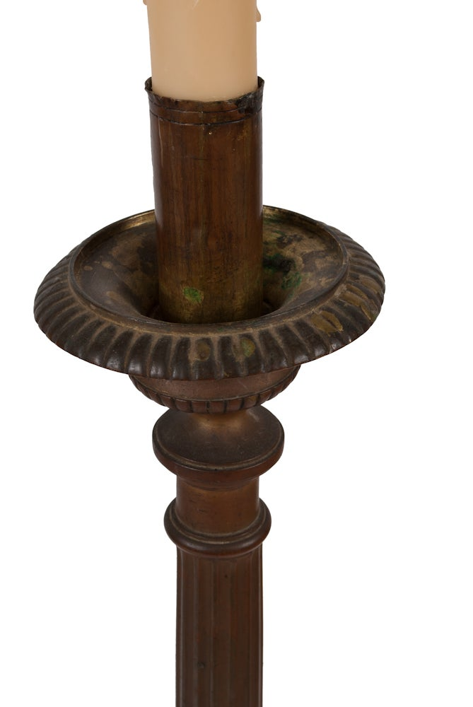 Image of Iron Candle Stick Lamp-Pair