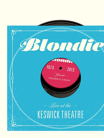 Image of Blondie - Glenside PA '13