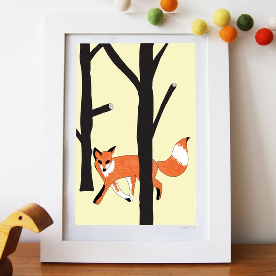 Image of Curious Fox Art Print