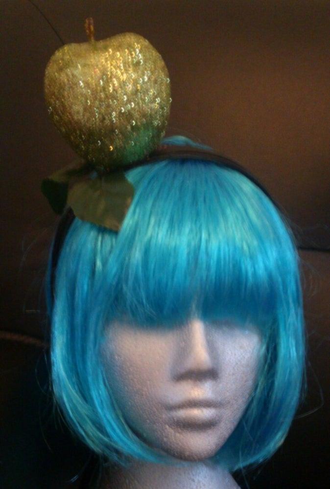 Image of Granny Smith goes Disco glitter headpiece