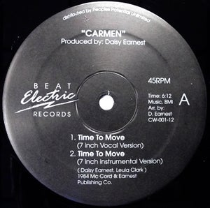 """Image of CARMEN - Time To Move - Beat Electric 12"""""""