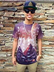 """Image of """"Moon Pyramids"""" T-Shirt"""