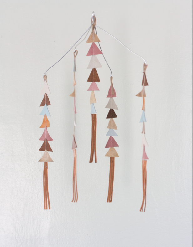 Image of The Leather Triangle Mobile in Fiona