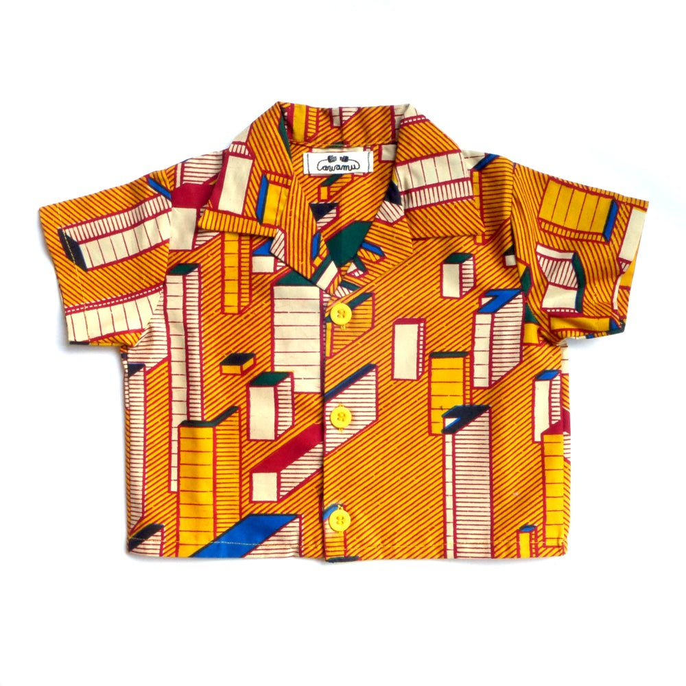 Image of 'Block' boys 100% cotton shirt