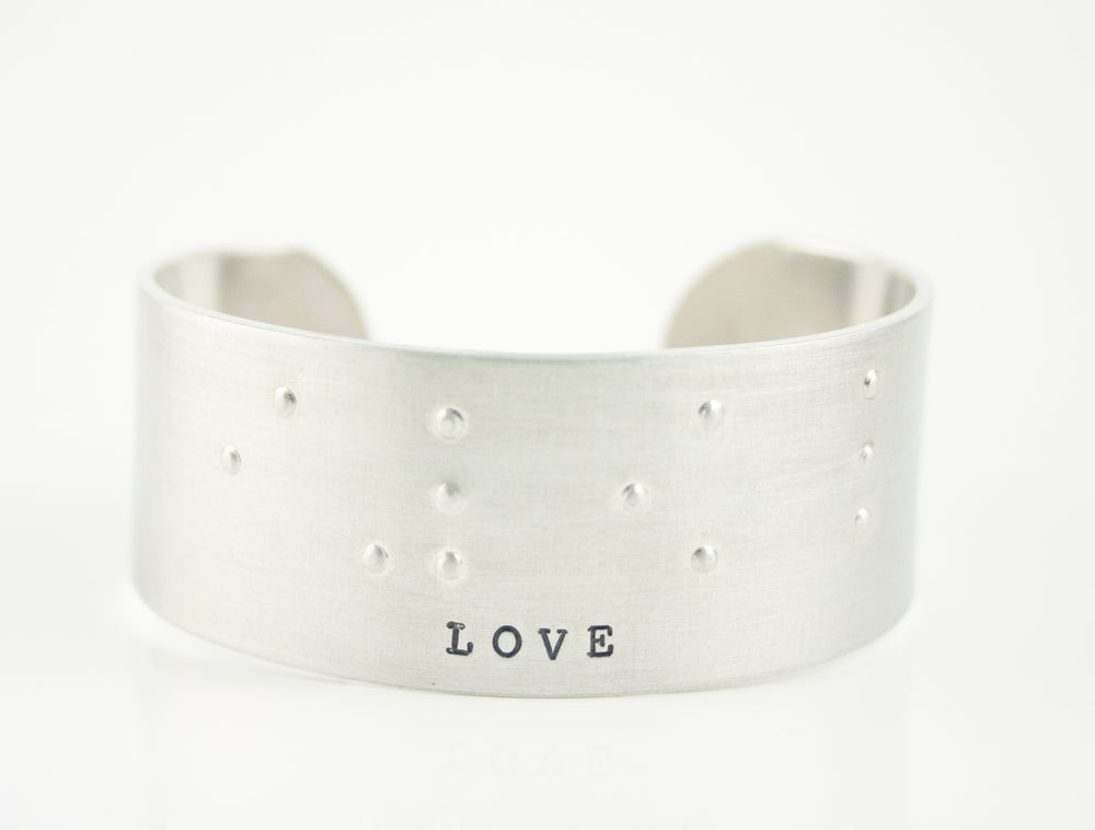 "Image of NEW! Braille ""LOVE"" bangle bracelet"