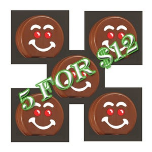 Image of Set of FIVE Unlimited-Edition Gingerbread Man Heads