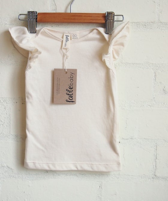 Image of Frill Singlet / Cream