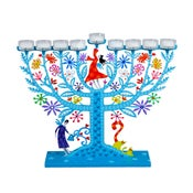 Image of Hanukkah Menorah Family Tree – Judaica by Tzuki Studio