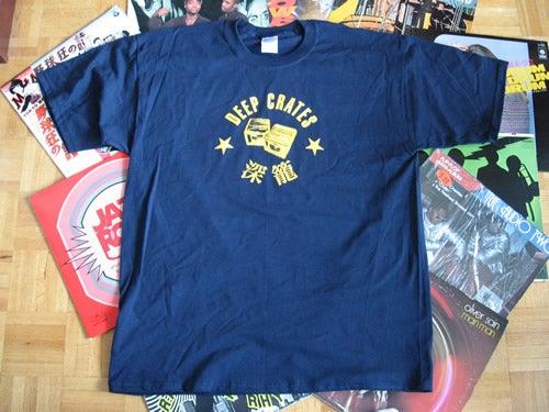 Image of Deep Crates Navy Blue T-Shirt