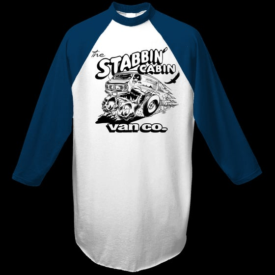 "Image of The Stabbin' Cabin Van Co. Baseball ""T""."