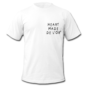 """Image of """"Heart Made Of Gold"""" Logo T-Shirt (Blanc)"""