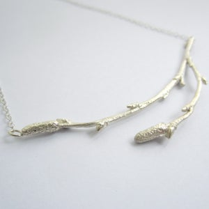 Image of silver twig necklace