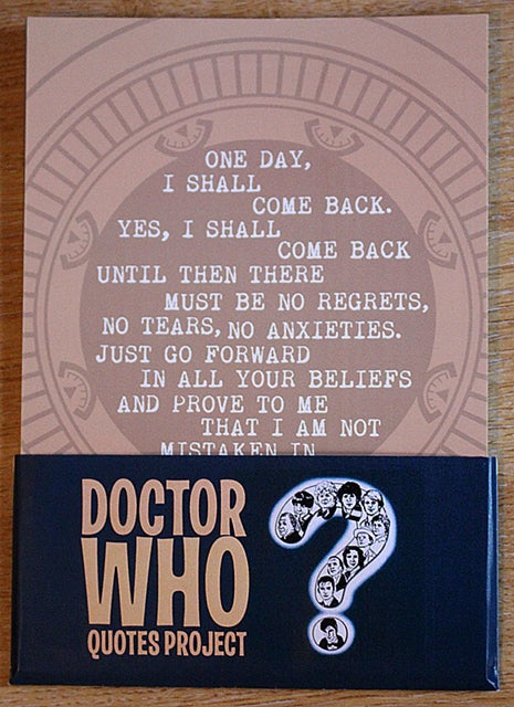 Image of Doctor Who Quotes Project
