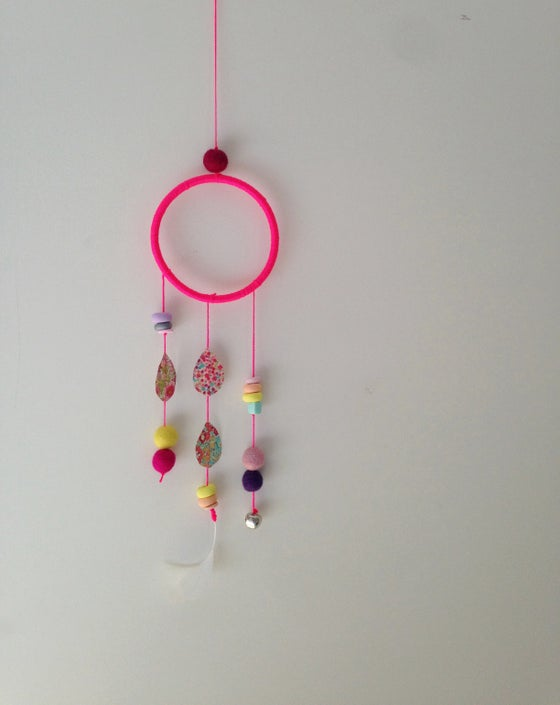 Image of Fluro Pink Dream Catcher Wall Hanging