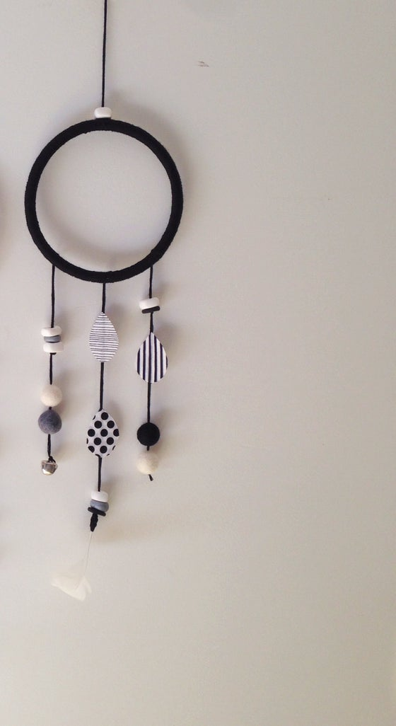 Image of Black & White Dream Catcher Wall Hanging