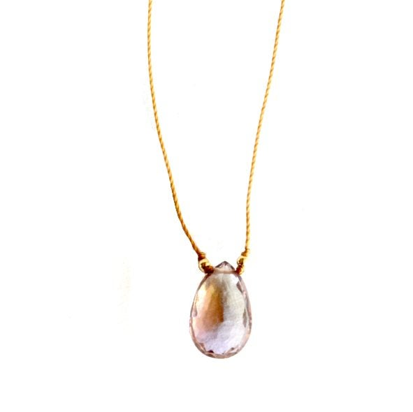 Image of Ametrine solitaire necklace on cord