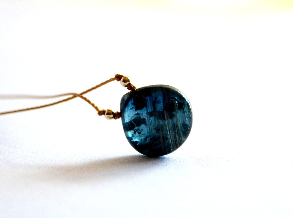 Image of Teal kyanite necklace