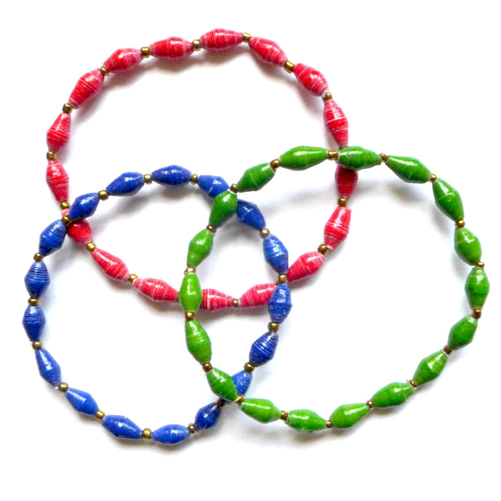 Image of Recycled paper braclets