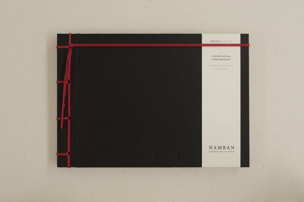 Image of Caderno tríptico aguarela | Triptych watercolour notebook A5