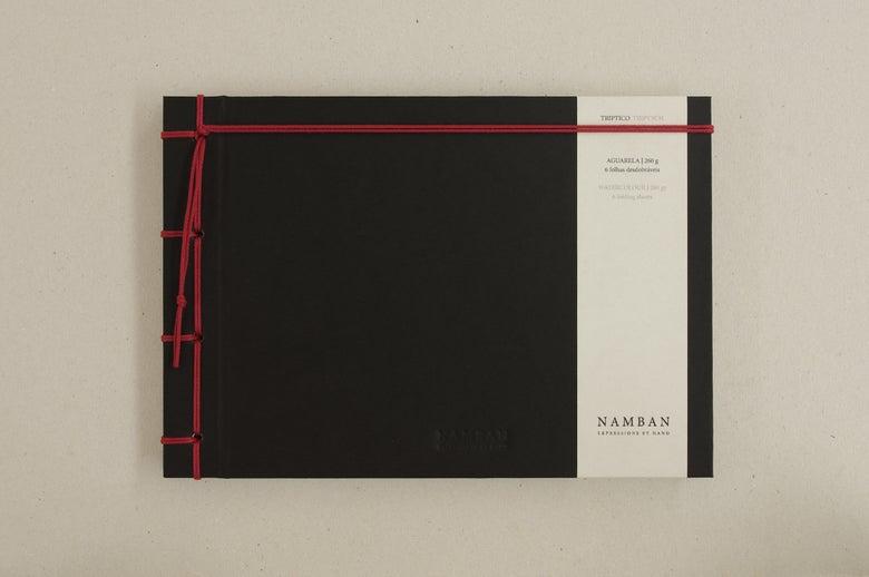 Image of Caderno tríptico aguarela | Triptych watercolour notebook A5