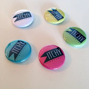 Image of ITCHY logo Pin Badges