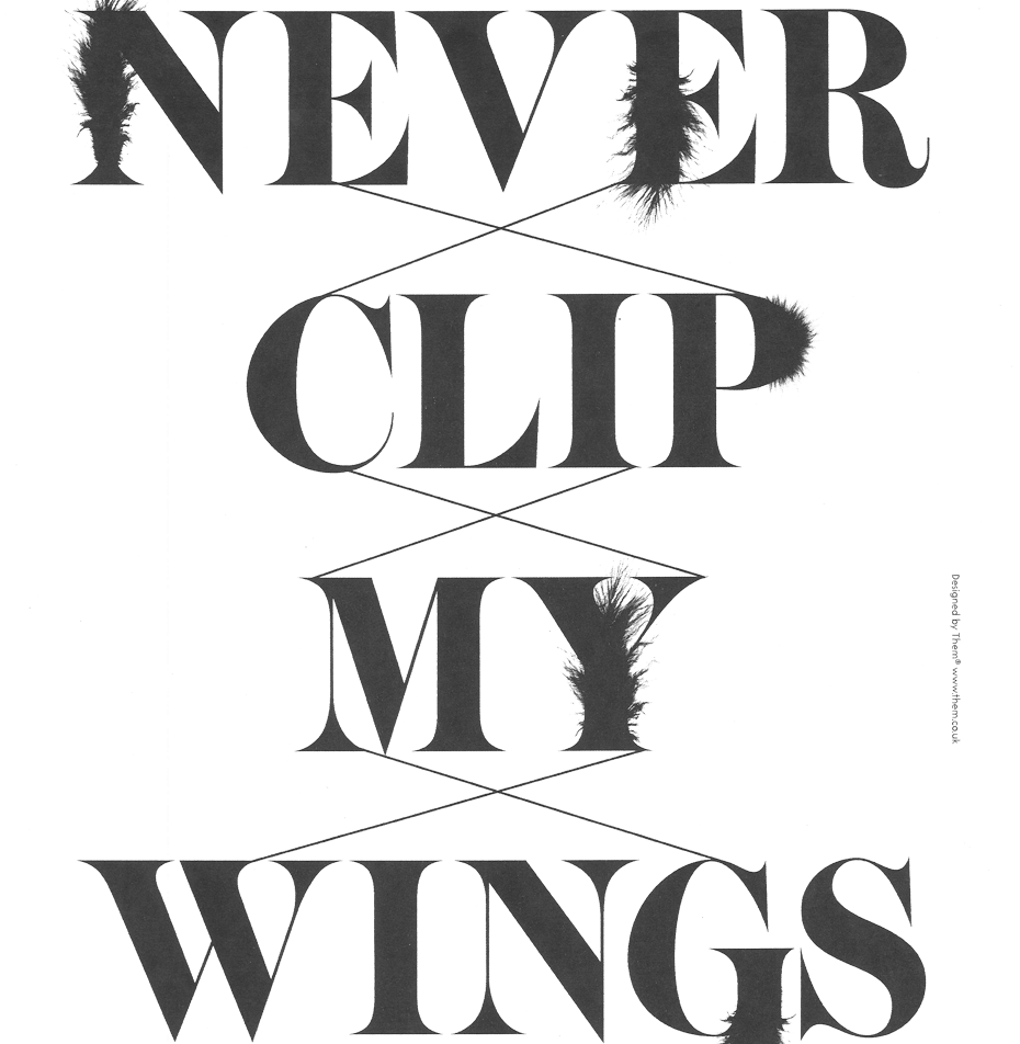 Image of 'Never Clip My Wings' Poster