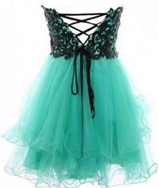 Image of CUTE LACE STRAPLESS dress