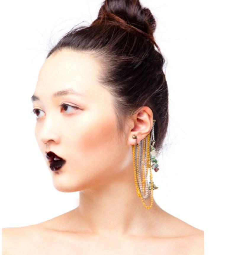 Image of Agate Stone Ear Cuff