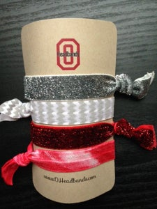 Image of Ohio State Themed Hair Tie 4 Pack